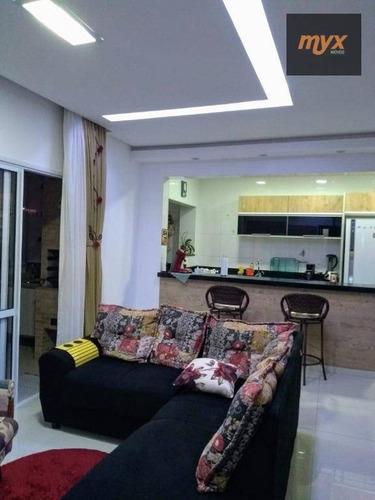 Imagem 1 de 10 de Apartamento Com 2 Dormitórios À Venda, 77 M² Por R$ 720.800,00 - Centro - São Vicente/sp - Ap6038