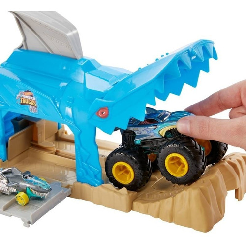 Hot Wheels - Monster Trucks Garage Lanzador Mattel Original