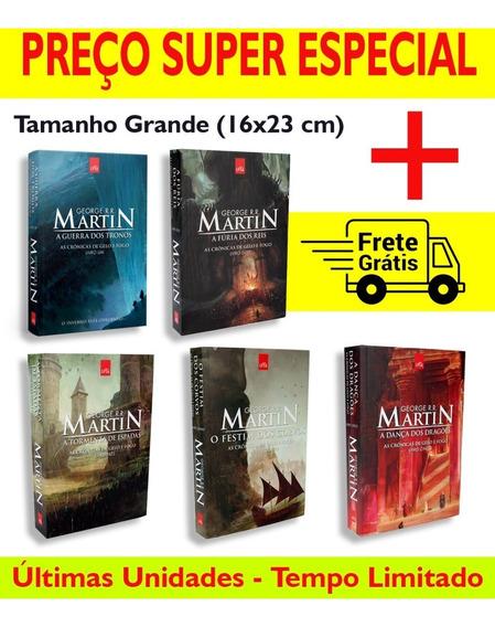 Box 5 Livros Game Of Thrones - Tamanho Normal - Novos