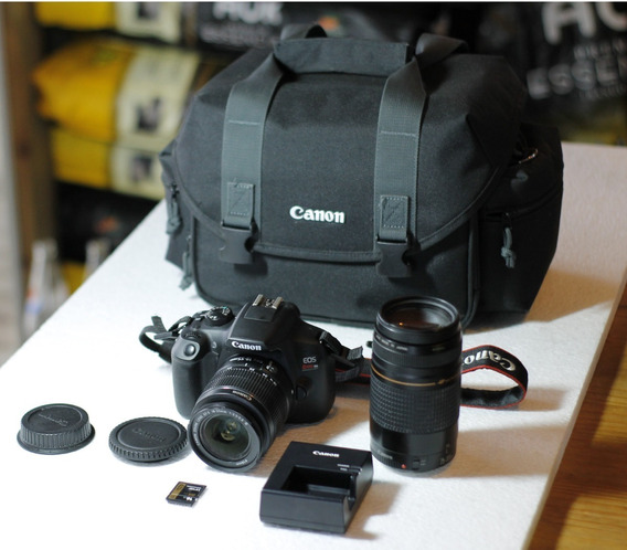 Canon T6 + 2 Lentes + Bolsa Original Grande + Cartao Profissional + Nota Fiscal Completa