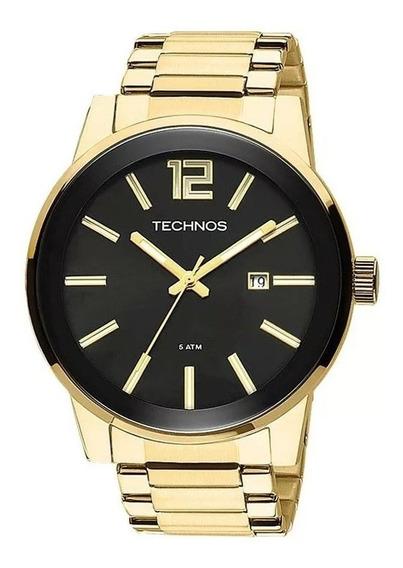 Relógio Technos Dourado Masculino Analógico 2115tt/4p