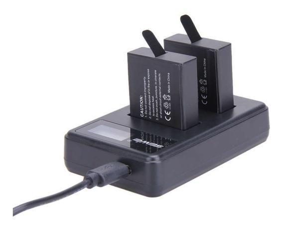 Gopro Carregador Duplo Bateria Visor Câmera Hero Ahdbt-401