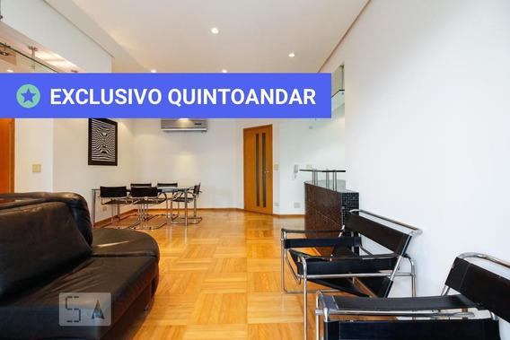 Apartamento No 9º Andar Mobiliado Com 1 Dormitório E 2 Garagens - Id: 892963746 - 263746