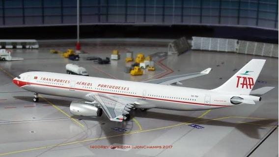 Miniatura Avião 1:400 Airbus A330-300 Tap Portugal Retrojet