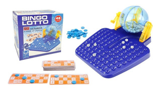 Bingo Lotto Juego De Mesa Adultos Niños 8014a Juguetes