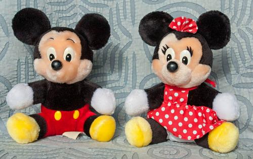 Peluche Mickey Y Minnie Disney Stores Original 20 Cm