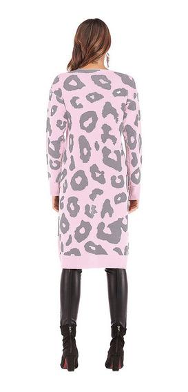Otoño De Las Mujeres De Punto Largo Cardigan Suéter