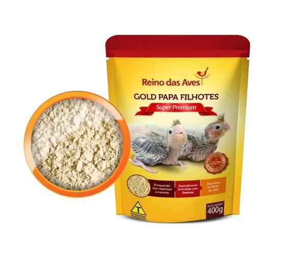 Papinha Gold Papa Filhotes Calopsita Papagaio Arara Pássaros