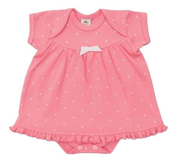 Body Vestido Menina Macacão Curto Menina Bebê Poá - Piu Blu