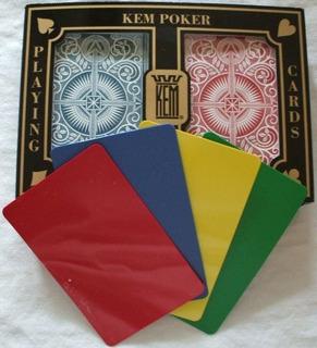 2 Tarjetas Gratis De Corte Kem Arrow Red Blue Playing Cards