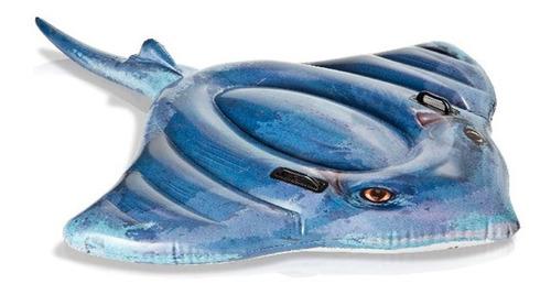 Imagen 1 de 7 de Colchoneta Inflable Para Pileta Mantarraya Intex
