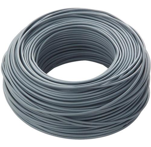Cable Super Plástico Gris 2x2 Mm - Rollo De 100 Metros