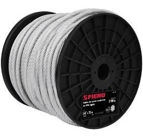 Cables Acero Recubiertos 7 X7 Hilos75 M 1/8rx Truper