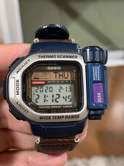 Casio Thermo Scanner Tsr-100 Impecável C/pulseira Original