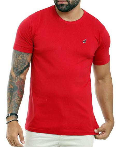 Camiseta Masculina Barata Colorida Lisa Básica Em Promoção