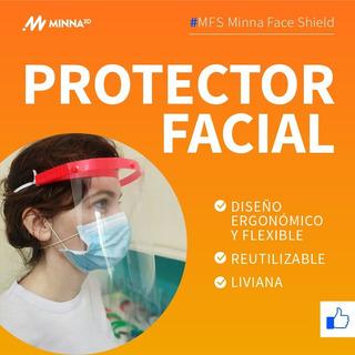 Protector Facial Mascara Policarbonato 0.6mm Transparente