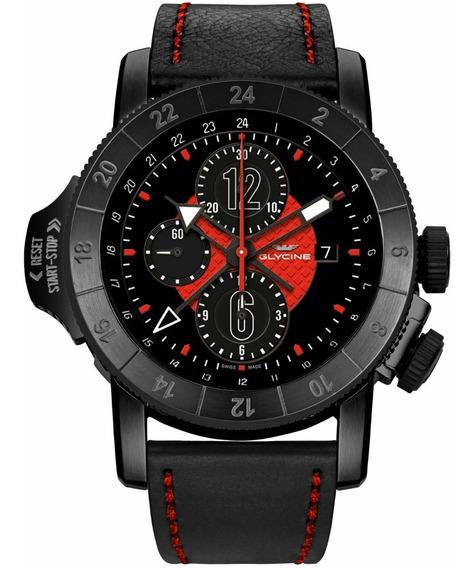 Relógio Glycine Airman Airfighter 46 Auto Chrono Gmt Gl0050