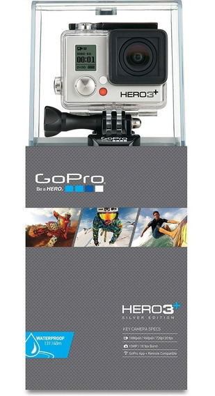 Camera Gopro Hero 3+ Silver Edition - Nova Nfe
