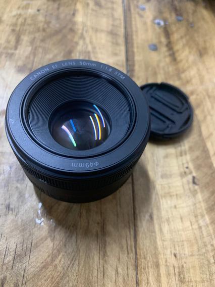 Lente Canon Ef 50mm F/1.8 Stm - Pouco Uso
