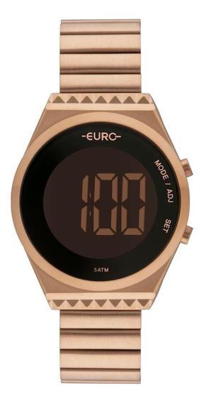 Relógio Feminino Euro Fashionfit Slim Eubjt016ab/4j Aço Rosé