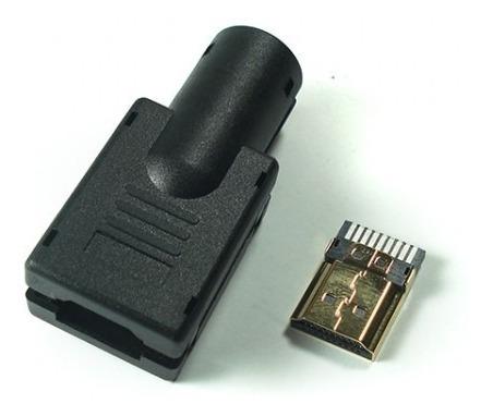 Conector Hdmi Macho Gold Solda Placa Capa Plastic Kit C/ 4