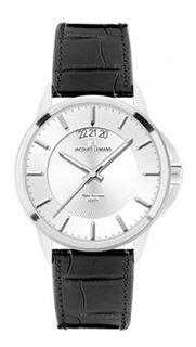 Reloj Jacques Lemans Hombre De Lujo En Cuero