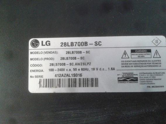 Leds Com Gabinete Lg 28lb700b-sc