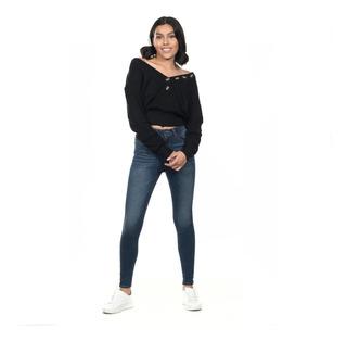Suéter Cuello V Quarry Jeans Con Detalle De Botones Quarry