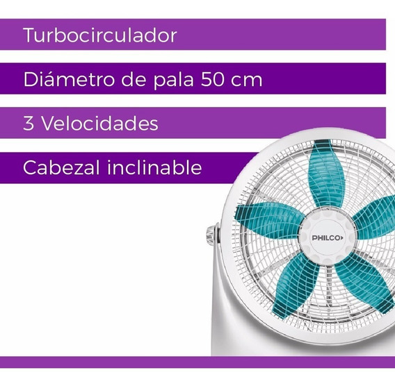 Ventilador Turbo Philco 20