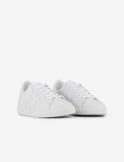 Tênis Armani Exchange Sneakers With Appliqué Logo
