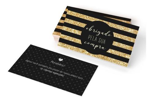 Imagem 1 de 2 de Cartão De Visita Agradecimento Ao Cliente / Compra - 100un