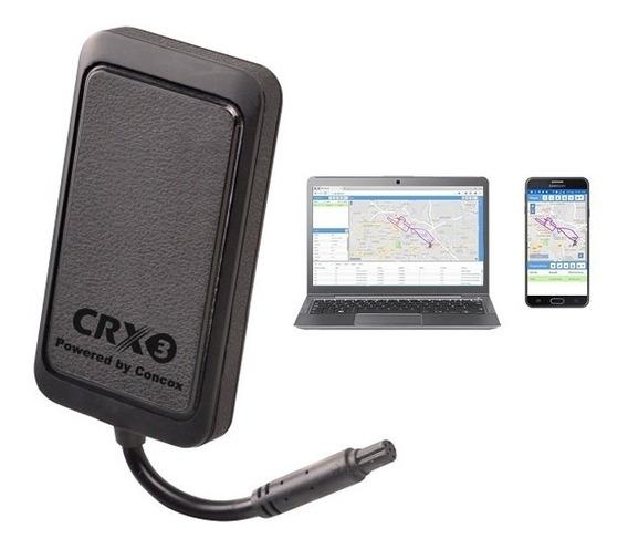 Rastreador Bloqueador Veicular Crx3 + Plataforma + Chip M2m