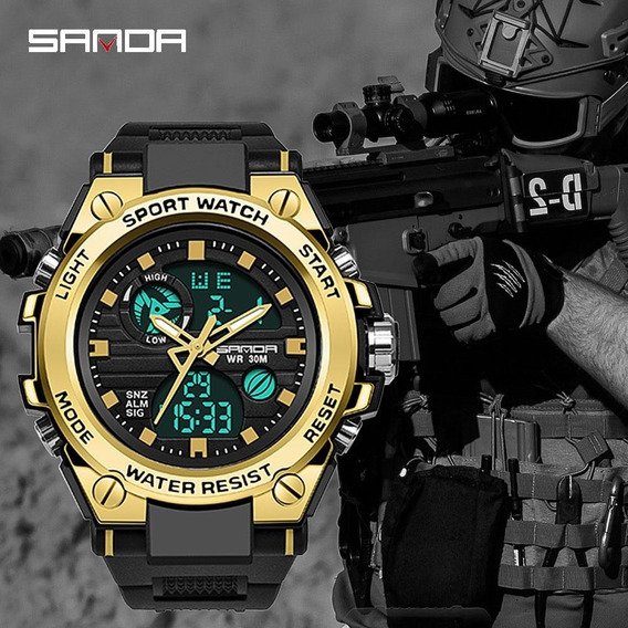 Relógio Masculino Sanda 739 Militar Prova D