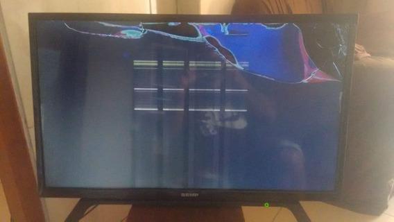 Tv Semp 32 Com Display Queimado Só Pra Ret De Peças