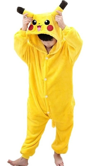 Pijama Pikachu Infantil Niño Kigurumi Disfraz Amarillo
