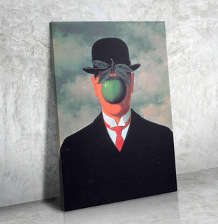 Cuadro Canvas 50x90 René Magritte Lienzo Listo Para Colgar