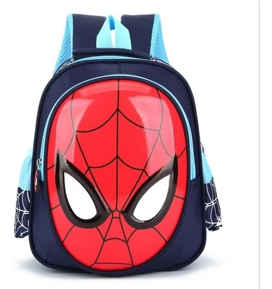 Mochila Infantil Homem Aranha 3d Spider Impermeável Escolar