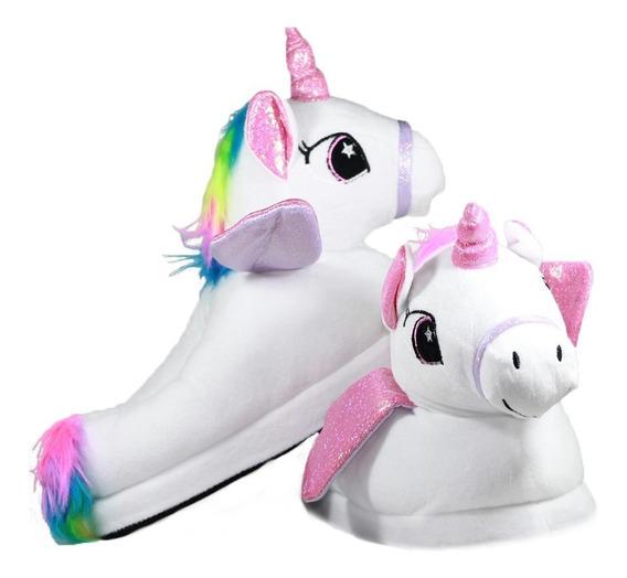 Pantuflas Unicornio Talle 24 A 29