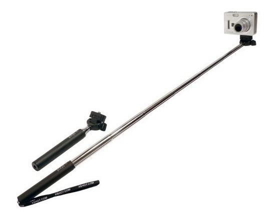Bastão De Mão Retrátil Monopod 97cm Gopro Smartphone Câmera
