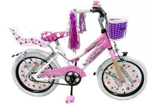 Bicicleta Inf Nena Futura Rod16 Twiggy Full Canasto Rueditas
