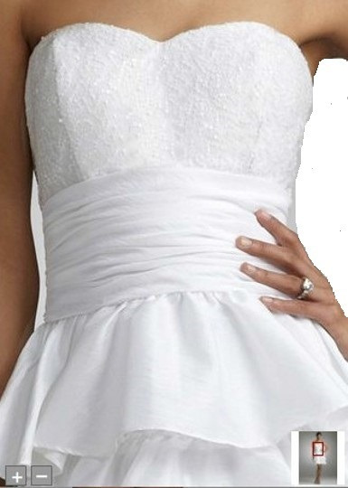 Vestido De Novia David´s Bridal Talla 14 Corto-civil- Nuevo