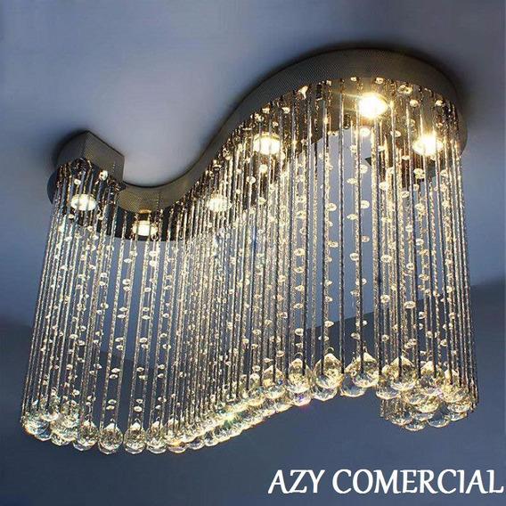 Plafon Lustre Pendente Cristal Legitimo+lampadas Gratis