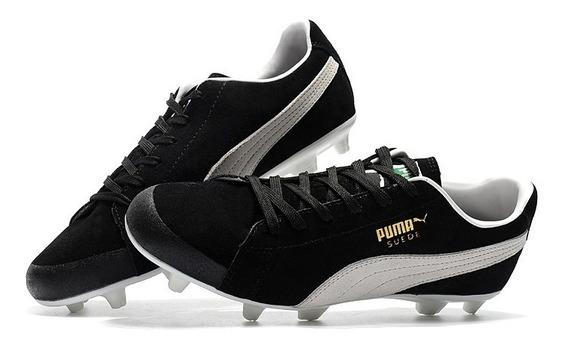Chuteira Puma Future Suede 50hy Fg Preto+ Branco Original