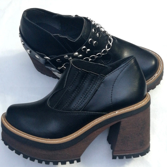 Botitas Zapatos Borceguí Plataforma Moda Mujer Fiorcalzados