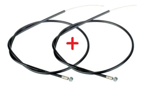Imagen 1 de 4 de Cable Y Funda Freno Bicicleta Delantero Y Trasero Juego
