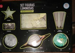 Figuras Luminosas Dormitorio Y Lapices Gel Luminoso+libretas