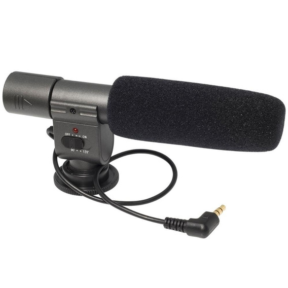 Microfone Profissional Stereo Para Câmeras Modelo Sg-108