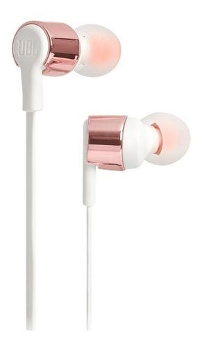 Fone de ouvido in-ear JBL Tune T210 ouro rosa