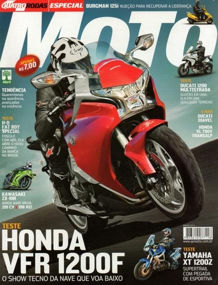 Quatro Rodas Moto N°617a Honda Vfr 1200f Ninja Zx-10r Ténéré