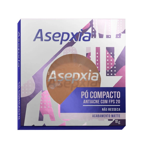 Imagem 1 de 1 de Asepxia Pó Compacto Antiacne Fps20 Bege Escuro - 10g